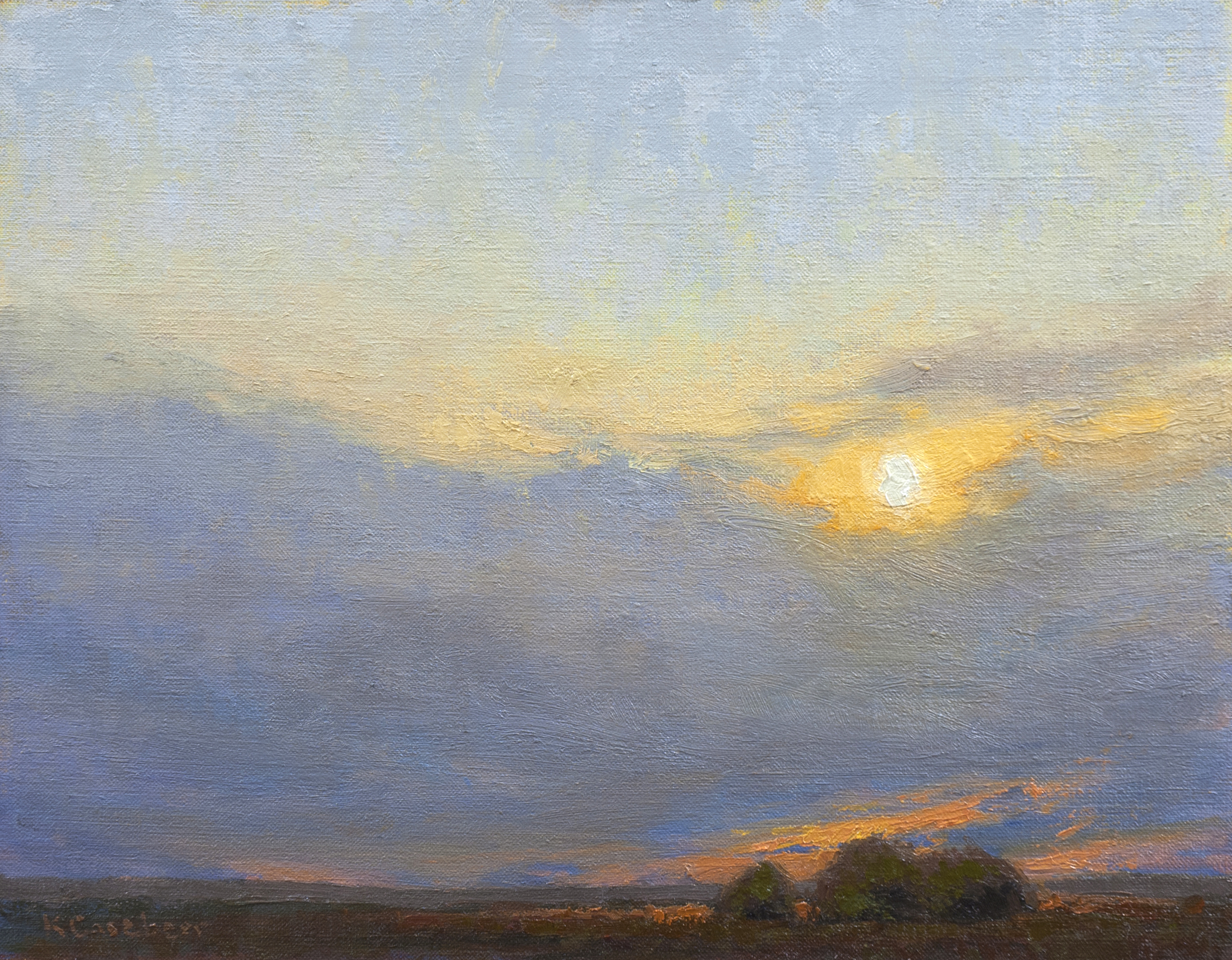 Cloud Sunset 14x18