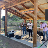 Concert times are either 6:30 - 9:30 or 7:00 - 10:00, feel free to listen from your RV/Tent/Glamping or Cabin Site, however the band does love a crowd! Tips make them boogie! lol