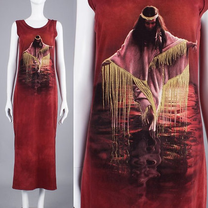 The Mountain Native American Art T Shirt Dress