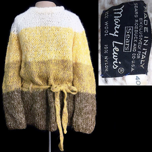L/XL Vintage 1970s Sears Mary Lewis Mohair Sweater