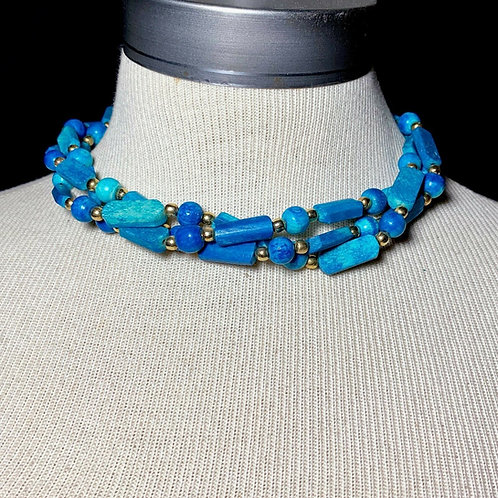 Turquoise Howlite Chunky Necklace