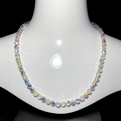 "23"" Aurora Borealis Czech Crystal Glass Necklace"