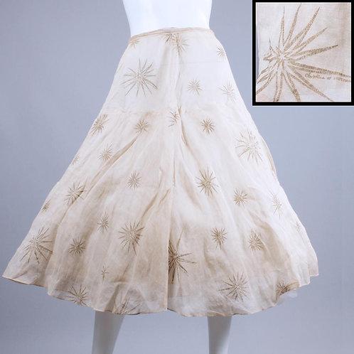 XS Vintage 1950s Atomic Starburst Skirt