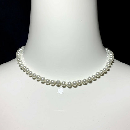 Classic Pearl Beaded Choker Necklace