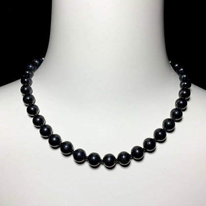 Antique Matte Black Onyx Beaded Gothic Necklace