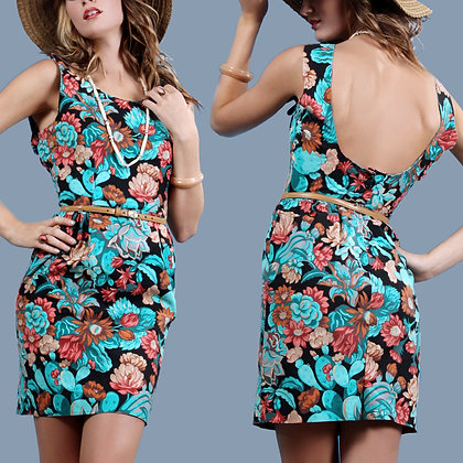 M Vintage 1960s Mini Rockabilly Pencil Dress