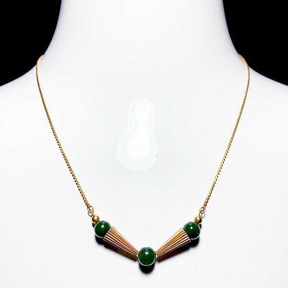 1/20 12kt Gold Jade Necklace