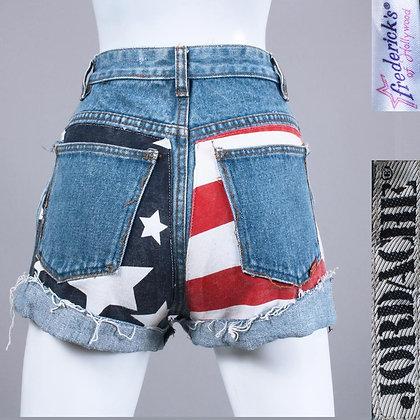 XS/S 1980s Jordache American Flag Jean Shorts
