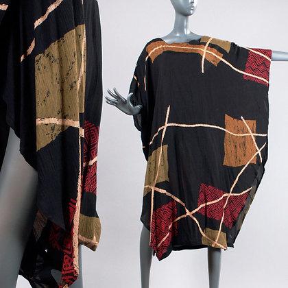 OS Vintage 1990s ROMPER to Caftan Dress