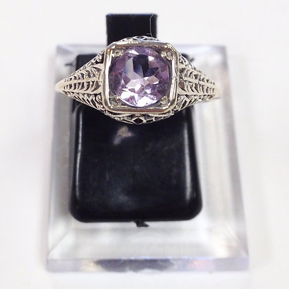 Size 6 • Amethyst & Sterling Silver Ring
