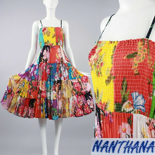 OS Vintage Cotton Summer Sun Dress