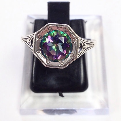 Size 7 • Rainbow Topaz & Sterling Silver Ring