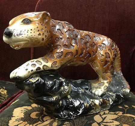 30's Jungle Cat Figurine