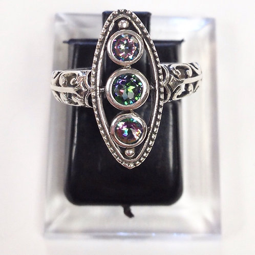 Size 6 • Rainbow Topaz & Sterling Silver Ring