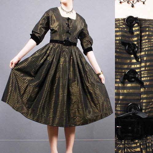M Vintage 1950s Pin Up Cocktail Dress