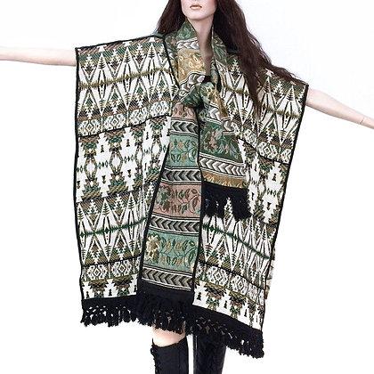 OS Vintage 1970s Tapestry Poncho Southwestern Jacket
