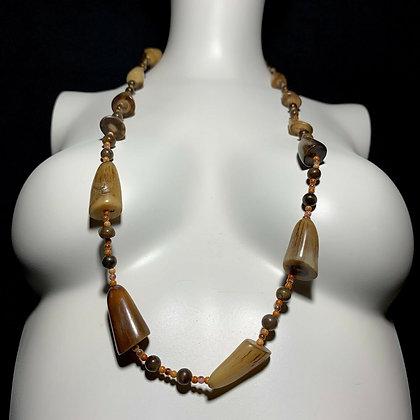 Vintage Buffalo Horn Tribal Necklace