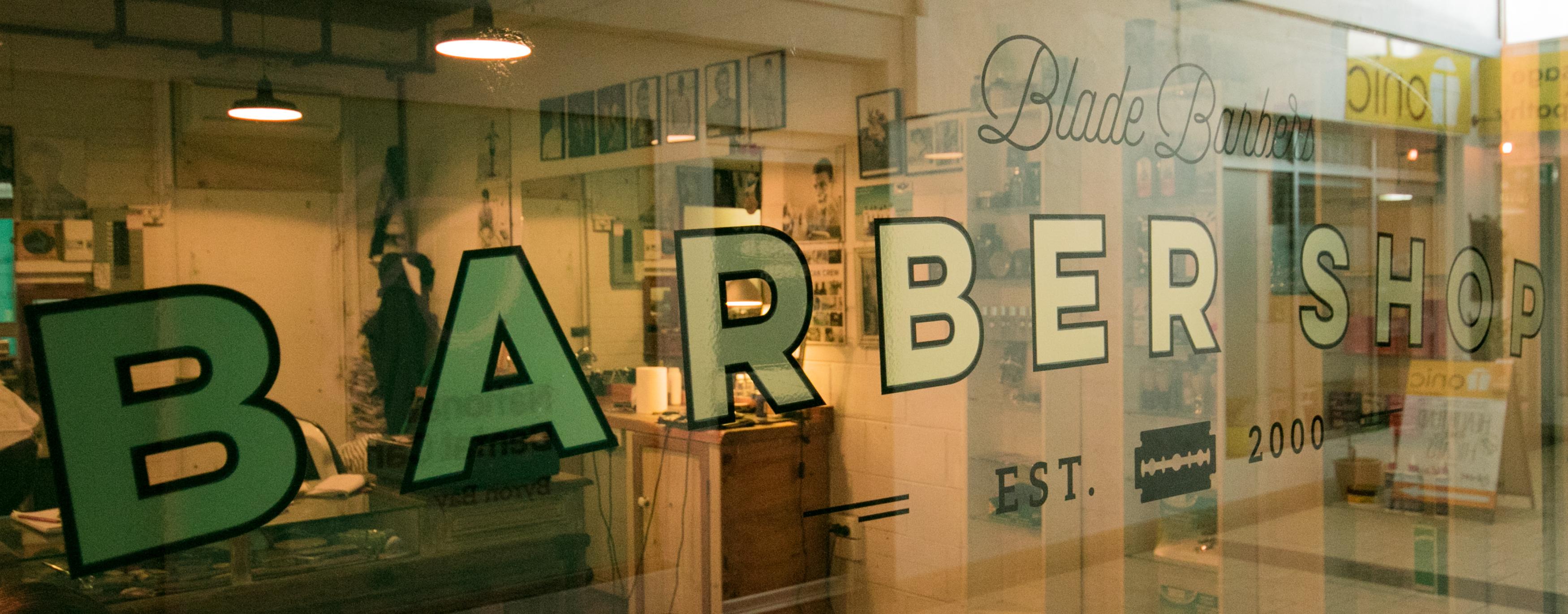 sign blade barbers byron bay haridresser