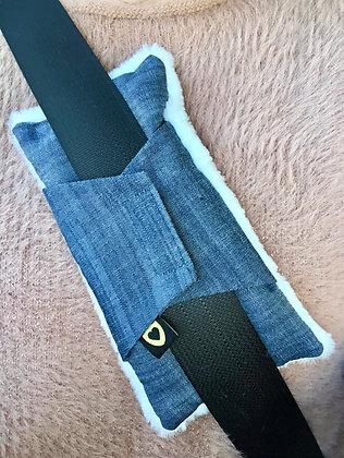 Luxe Seatbelt Pillow: Denim