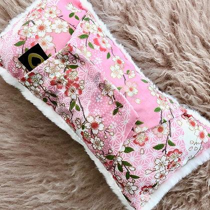 Luxe Seatbelt Pillow: New Pink Cherryblossom