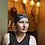 Thumbnail: Silver and Black Evening Semi-Slouch Cap