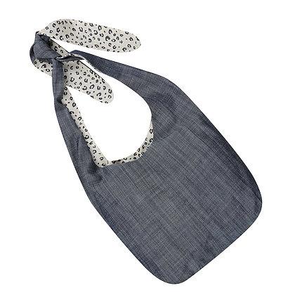 Stylish Surgical Drain Bag: Soft Denim and Light Cheetah