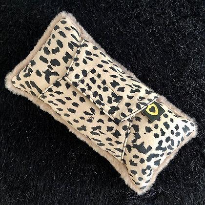 Luxe Seatbelt Pillow: Mauve Animalia