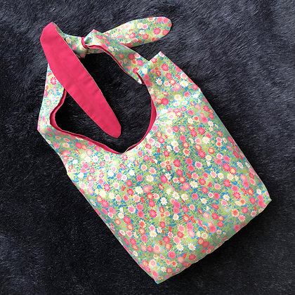 Stylish Surgical Drain Bag in Aqua Ruby Oriental Pattern
