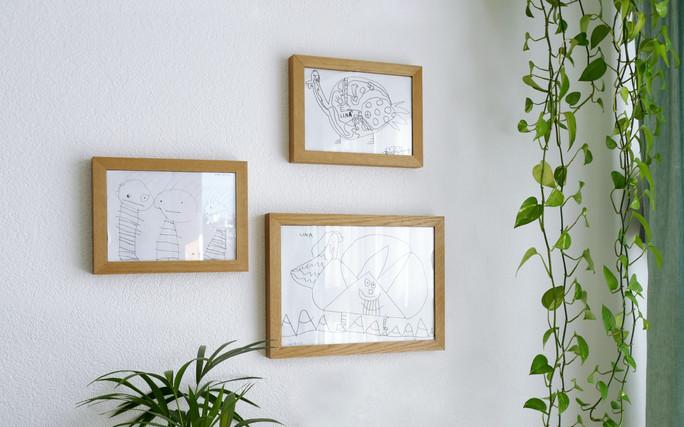 Bilderrahmen Collage an der Wand
