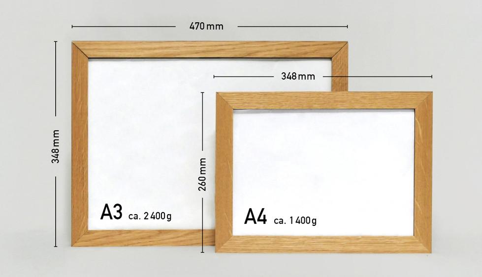 Zwei Grössen - A4, A3