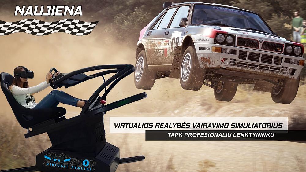 V-R Shop virtualios realybės vairavimo simuliatorius