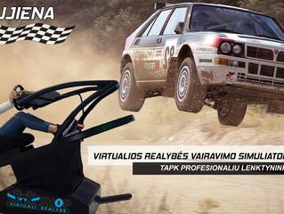 Virtualios realybės simuliatorius jau V-R Shop!
