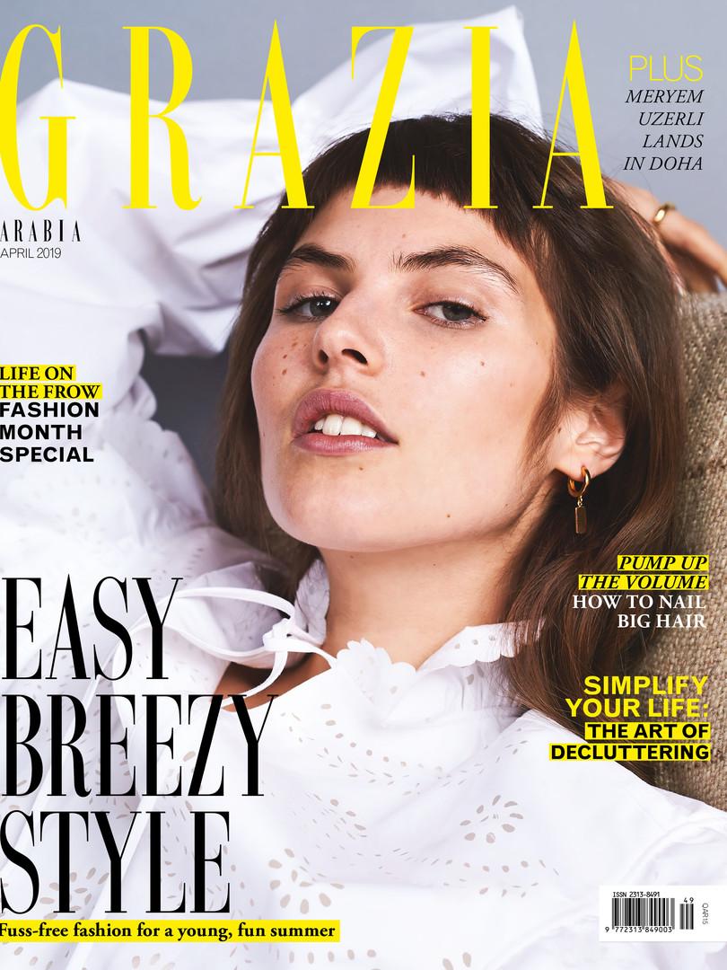 Grazia Qatar Cover Story Angelina Jesson