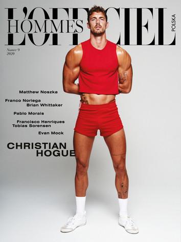 Christian Hogue Cover Story L' Officiel Hommes Poland
