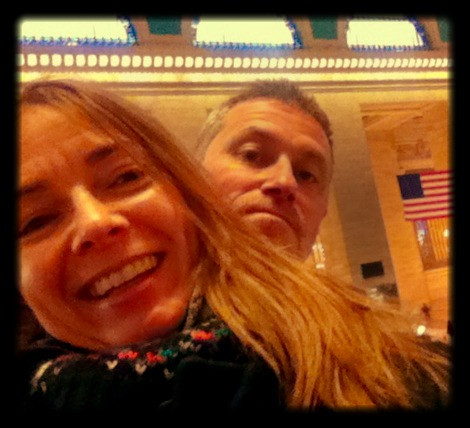 Carol and John smiling