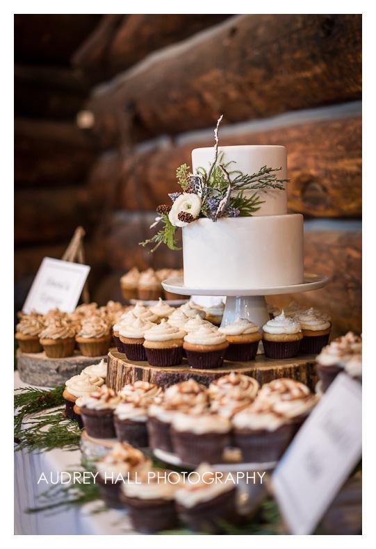 Winter Cupcake Display