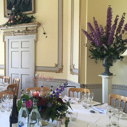 Elegant reception at Sharpham House