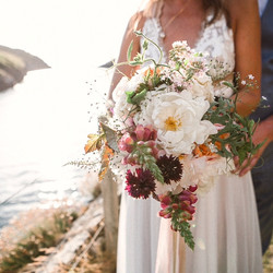 Gorgeous Cornish sea side wedding
