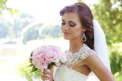 Wedding. Beautiful bride on the street