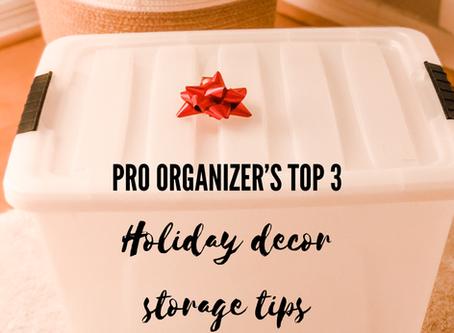 Pro Organizer's Top 3 Holiday Decor Storage Tips