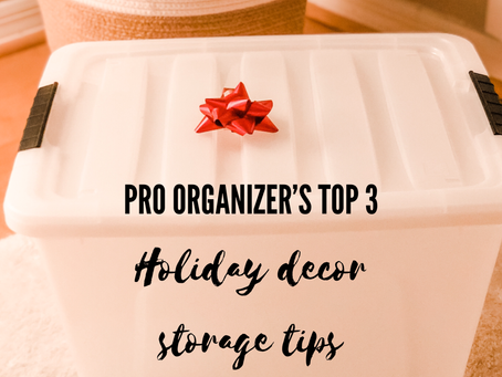 Pro Organizer's Top 3 Holiday Decor Storage Tips