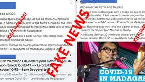 FAKE NEWS: NÃO, MADAGÁSCAR NÃO ANUNCIOU A SUA SAÍDA DA OMS!