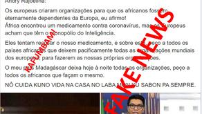 """FAKE NEWS: """"PRESIDENTE DE MADAGASCAR RAJOELINA PEDE À TODOS OS PAÍSES AFRICANOS PARA SAÍREM DA OMS"""""""