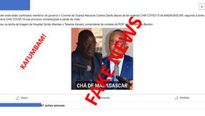 """FAKE NEWS: """"Medicamentos de Madagáscar origina morte aos agentes da GN e da POP"""""""