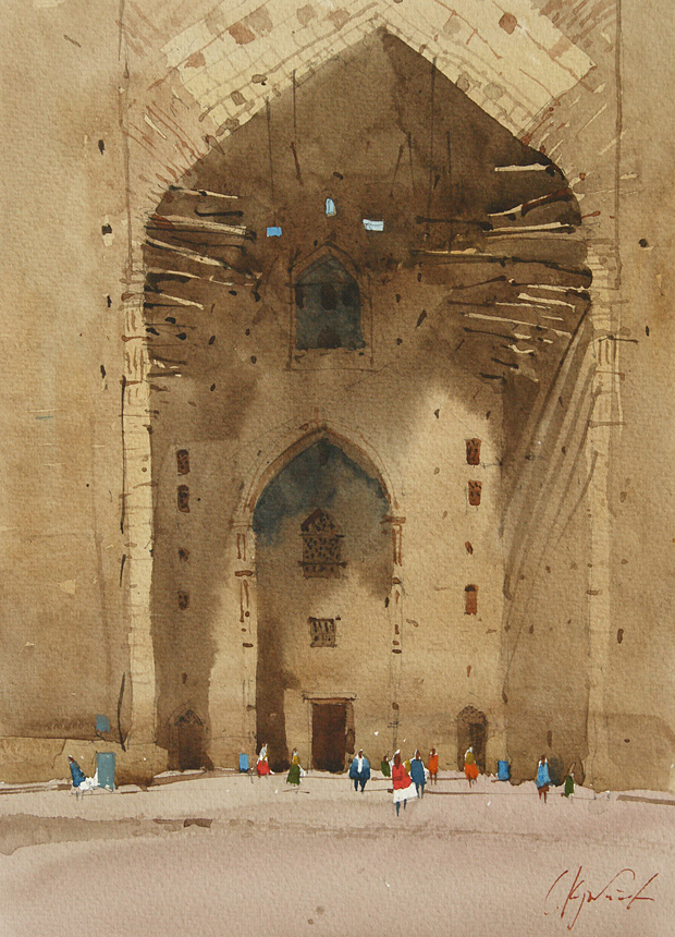 Turkestan. The gate of the mausoleu