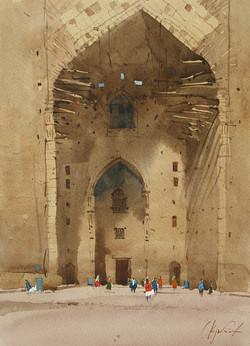 Turkestan. The gate of the mausoleu