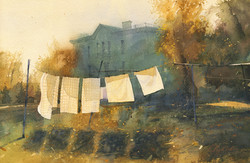 Poem about drying linen