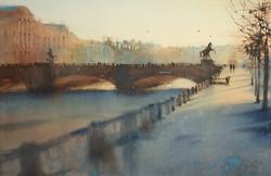 February morning in St. Petersburg