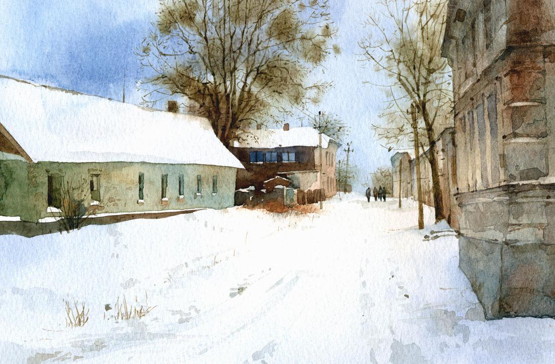 Зимний день в Никополе