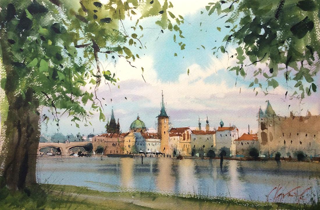 Вид на Прагу со Стрелецкого острова